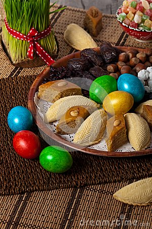 Free Eastern Sweets On Nowruz Holiday Stock Photography - 54419862