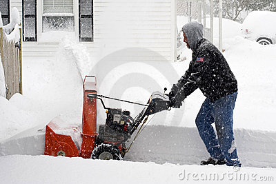 Eastern US Snow Storm Editorial Stock Photo