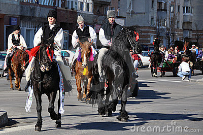 Eastern village horsemen Editorial Image
