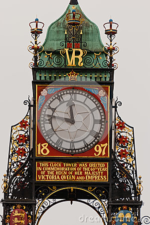 Eastgate Clock detail in Chester, England