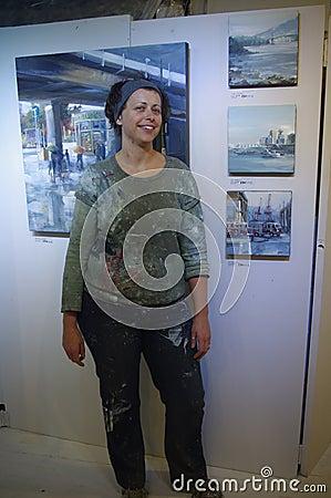 Popular Vancouver artist Leanne Christie Editorial Stock Photo