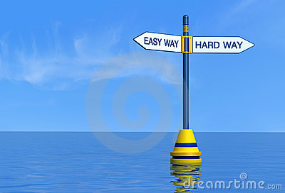 Easy and hard maritime way