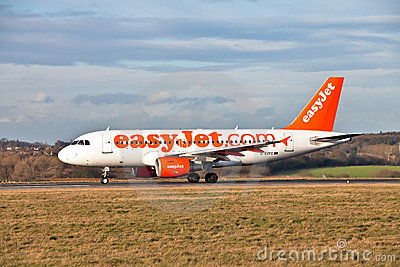 Easy Jet Airbus at take off Editorial Stock Image