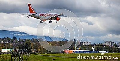 Easy Jet Plane Editorial Stock Photo