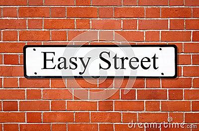 Easy street sign.