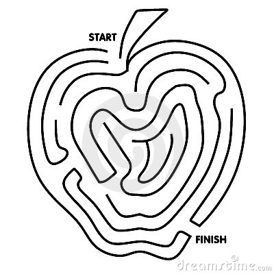 Easy To Solve Apple Maze