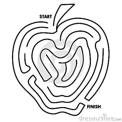 Easy To Solve Apple Maze