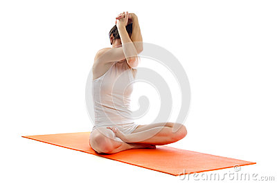 easy yoga pose stock photo  image 39954481