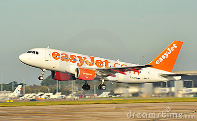 Easyjet Airbus A319 Editorial Stock Image