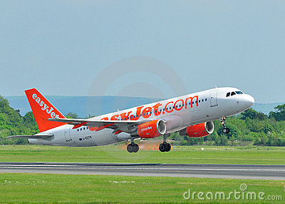Easyjet Airbus A320 Commercial Airliner Editorial Photography