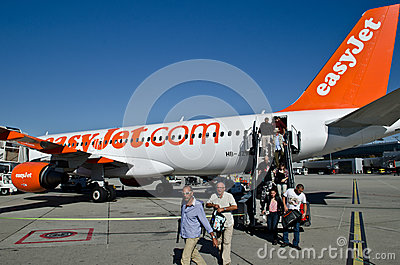 Easyjet airline and passengers Editorial Photo