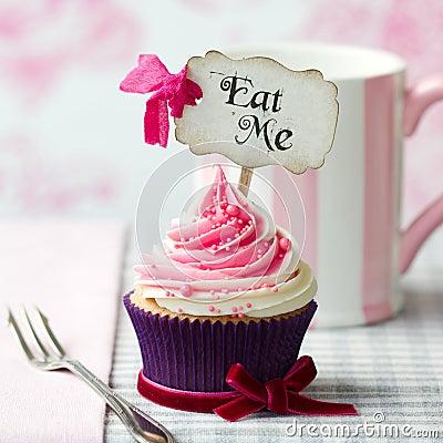 Free Eat Me Cupcake Royalty Free Stock Image - 37756366