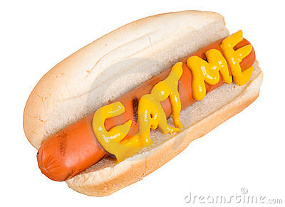 Eat Me says the Hot Dog
