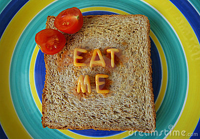 Eat me words on toast