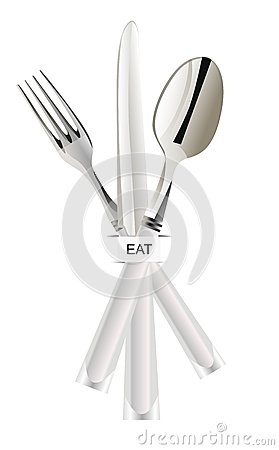 Eat tools spoon knife fork