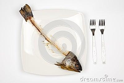 Eaten fish