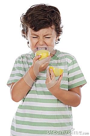 Free Eating A Lemon Stock Photo - 3567700