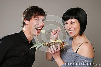 Eating ananas