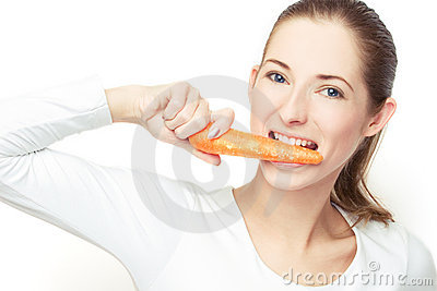 Eating the carrot