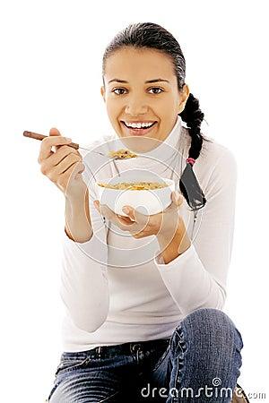 Eating cornflakes