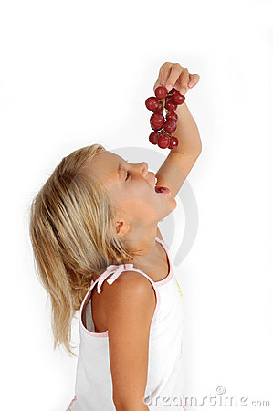 Free Eating Grapes Royalty Free Stock Photography - 1030567