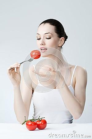 Eating healthy food