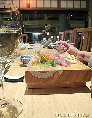Eating japanese