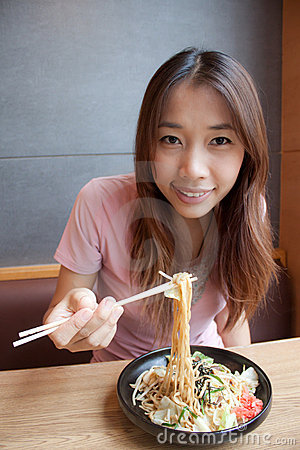 Free Eating Noodle Stock Photos - 21875313