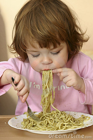 Free Eating Pasta Stock Image - 1796581