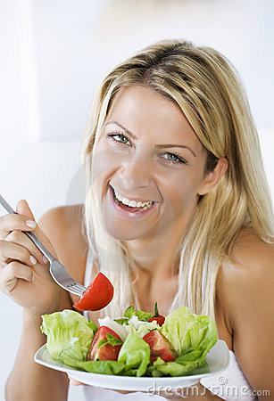 Free Eating Salad Stock Photography - 4323242