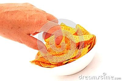 Eating snacks