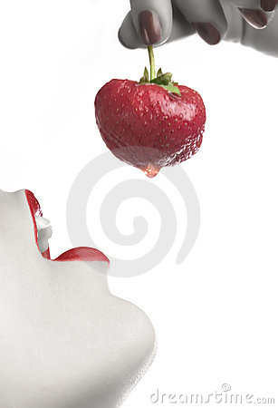 Free Eating Strawberry 3 Royalty Free Stock Photography - 882707