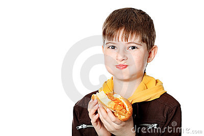 Eating teenager