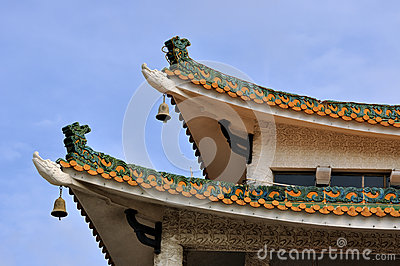 Eave detail of Chinese old style architecture