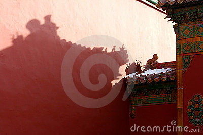 Eaves in Forbidden City and Snow