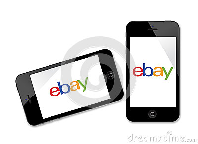 Ebay logo on iPhone Editorial Photography