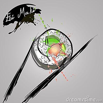 Free Ebi Maki Stock Photography - 57470362