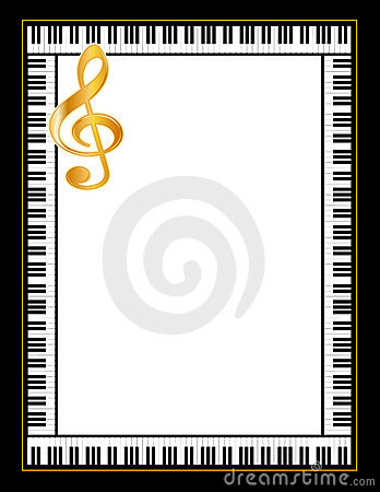 Free Ebony And Ivory Piano Poster, Gold Clef Stock Images - 4163024
