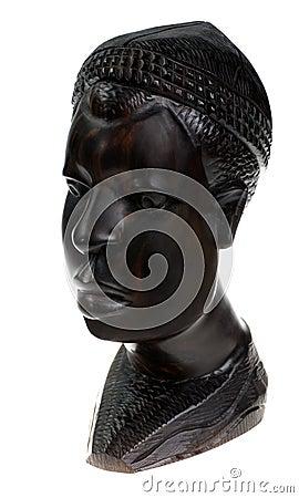 Ebony wooden men head