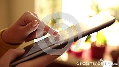 EBook чтения сток-видео