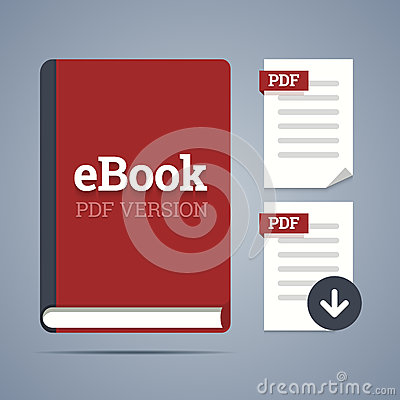 EBook template with pdf label.