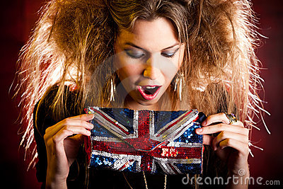 Eccentric British woman