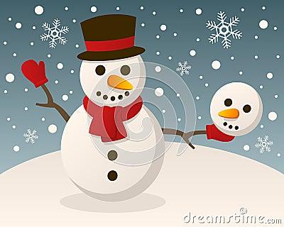 Eccentric Christmas Hamlet Snowman
