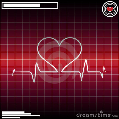 Free ECG Heart Beat Royalty Free Stock Photography - 16841957