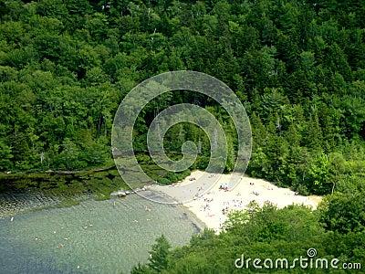 Echo Lake Beach in Acadia National Park, Maine