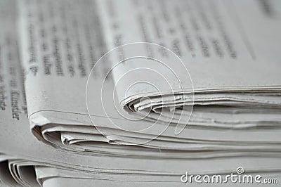 Ecke der Zeitungen