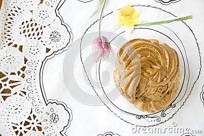 Eclair sweet dessert
