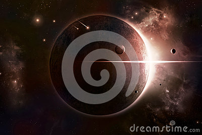 Eclipse Space Background