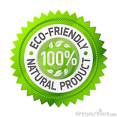 Eco życzliwy produktu znak