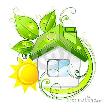 дом eco зеленый